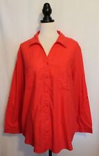 REGATTA WOMAN ~ Maraschino Cherry Red Lightweight Cotton Long Sleeve Shirt 20