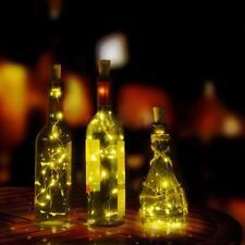 Solar Wine Bottle Cork Shaped String Light 10 LED Night Fairy Light Lamp Gift