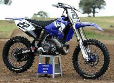Yamaha Chad Reed Retro YZ125 YZ250 2 T Kit De Calcomanías Gráficos Azul Clásico