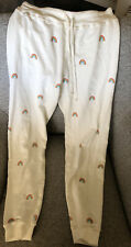 Spiritual Gangster Womens White Sweats With Rainbows (Size M) WORN ONCE