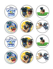 Puppy Dog Pals edible party cupcake toppers cupcake image sheet 12/sheet