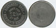 VERY RARE STEVINSON BROS. 12½c SALOON TOKEN FORT SMITH, SEBASTIAN CO., ARKANSAS