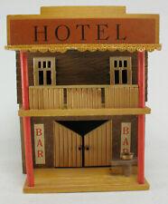 VERO 470 - HOTEL - von 1974 - DDR Holz Western Haus für Cowboy Indianer Figuren
