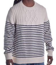 Tommy Hilfiger Mens $129 Wool Vintage Cable Knit Pull Over Sweater