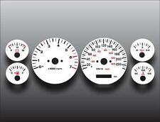 1996-1998 Jeep Grand Cherokee METRIC Dash Cluster White Face Gauges