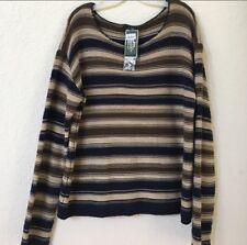 Lauren Ralph Lauren New Striped Sweater Size XL MSRP $119 100% Cotton