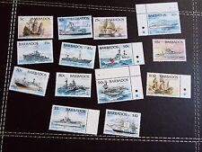 Barbade: 1994 navires, set de 14 umm (neuf sans charnière