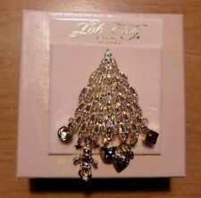 Kirks Folly Christmas Tree Baby's 1st Christmas Brooch Pin  New Vintage with Box