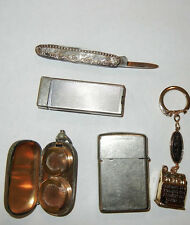 Lot of Vintage Men's Accessories Swiss Army Knife, Zippo Lighters Very Nice