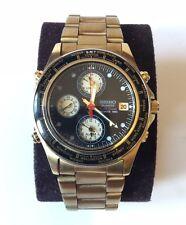 TIMER Mondiale Quarzo SEIKO SPORTS 150 (RARO Vintage Orologio-Finitura colore ORO)