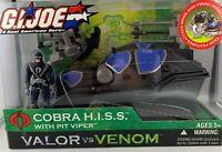 GI Joe Valor vs Venom Cobra Hiss Tank Pit Viper Figure New