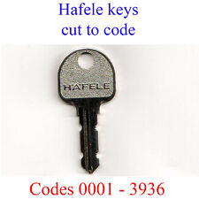 Hafele Replacement Key Cut to Code for Desks, Filing Cabinets, Lockers