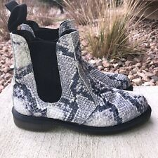 Dr Martens Women's Flora Asciano Chelsea Boots Size 5 Light Gray Snake Print
