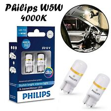 2x Philips W5W T10 12V 127994000KX2 X-treme 4000K Warm White Auto Interior Lampe