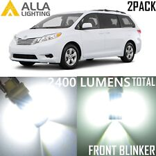 Alla Lighting Front Signal Light 1156NA White LED Blinker Bulb Lamps for Toyota