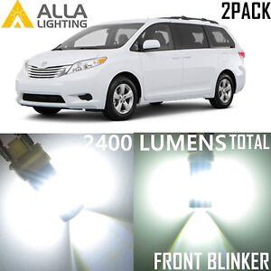 Alla Lighting Front Signal Light 1156NA White LED Blinker Bulb Lamps for Toyota