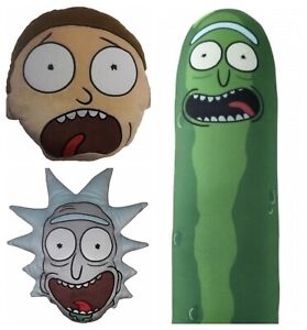 Official Rick and Morty & Pickle Rick Shaped Spandex Bead Plush Cushion Gift