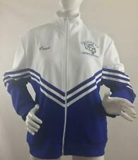 Vintage 1990's Chasse Blue & White Cheer Leading Coach Jacket w High Collar|2X