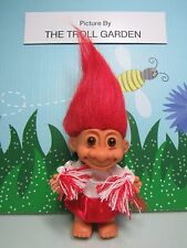 """CHEERLEADER - 5"""" Russ Troll Doll - NEW - Red and White Uniform"""
