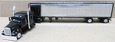 1/64 DCP MATTE BLACK KENWORTH W900 W/ REEFER TRAILER