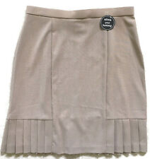 Dressbarn Beige Slims Your Tummy Skirt with Mesh Liner-Womens-Sz 12     NWT