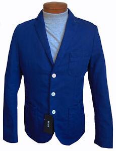 Men's HUGO BOSS Royal Blue Linen Cotton Jacket Blazer 40R SLIM FIT NWT NEW NiCe!