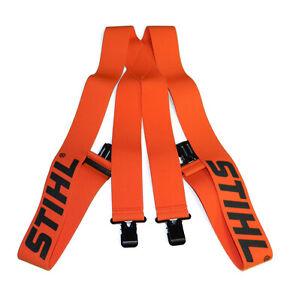 "Official STIHL Brand Orange Suspenders - 48"""