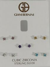 Giani Bernini Sterling Silver Earring Set, Multicolor Cubic Zirconia Five Stud