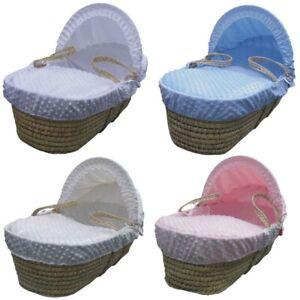 Cuddlesoft Dimple Moses Basket Bedding Set - Moses Cover Set