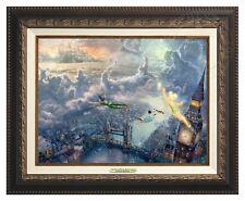 Thomas Kinkade Tinker Bell & Peter Pan Canvas Classic (Bronze Frame) Disney