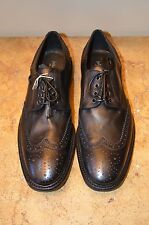 John Varvatos Black/Charcoal Leather Mens Oxfords Size 11 MSRP $798