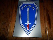 U.S Military Army Follow Me Infantry School Window Decal Bumper Sticker