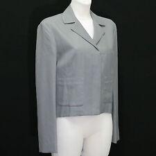 Damen Jacke von Stefanel - Business - Grau - Größe 40 - Blazer - 35% Leinenm