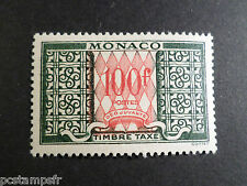 MONACO 1957, timbre TAXE 39, neuf**, VF MNH STAMP TAX