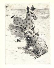 """Cairn Terrier Beach - Dog Art Print - M. Dennis """"N"""""""
