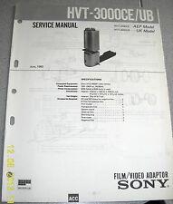 SONY HVT-3000CE / 3000UB Film/Video Adaptor Service Manual