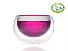 Double-wall Clear Glass Teacup 50ml 1.8 fl oz CK made
