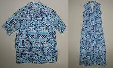 Vtg 1972 Hawaii Incentive Services Mens M Shirt Womens Dress sz 14 Matching Set