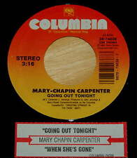 Mary-Chapin Carpenter 45 Going Out Tonight / When She's Gone