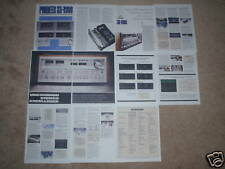 Pioneer SX-1980 Brochure 11 Pages of Info, Articles, Specs and Photos