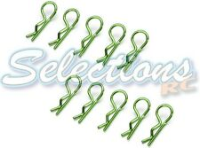 10 x Large Metallic Green Body Clips For RC Car Bodyshell Ideal For 1/8th