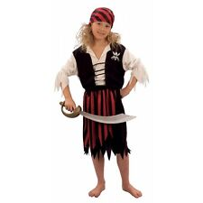 Pirate Girl Costume, Small, Long John Silver, School Plays, Fancy Dress G51153S