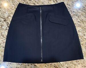 Athleta Stellar Skort Skirt  - Black - Front Zip - Size XXS