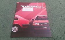 1984 VOLVO 340 HATCHBACK DL GL UK BROCHURE Riverside Doncaster Sticker