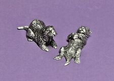 Hudson Pewter Noah's Ark Collection male & female Otters retired Bonus