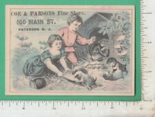 B312 Coe & Parsons shoe store advertising trade card 160 Main St. Paterson, NJ