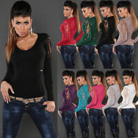 NEW WOMEN CLUBBING JUMPER TOP SEXY LADIES SWEATER PARTY PULLOVER SIZE 8 10 12 14