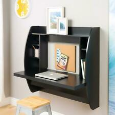 Computer Desk Floating Wall Mount Table With Storage Shelves Home Office Us Y1T5