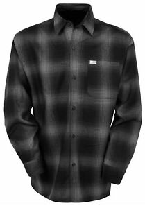 CALTOP CHARCOAL OMBRE LONG SLEEVE SHIRT OLD SCHOOL OG  CHICANO BIKER FLANNEL