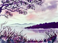 Original Watercolour Painting by Bill Lupton - A View from the Shore